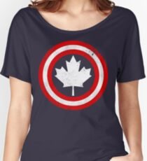 Captain Canada (White Leaf) Women's Relaxed Fit T-Shirt
