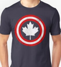 Captain Canada (White Leaf) Slim Fit T-Shirt