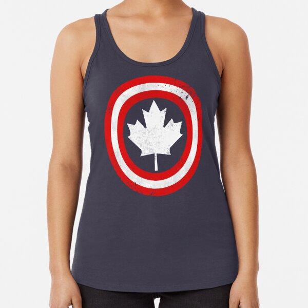 Captain Canada (White Leaf) Racerback Tank Top
