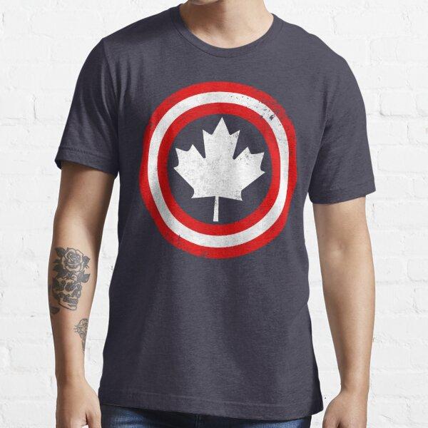 Capitán Canadá (hoja blanca) Camiseta esencial