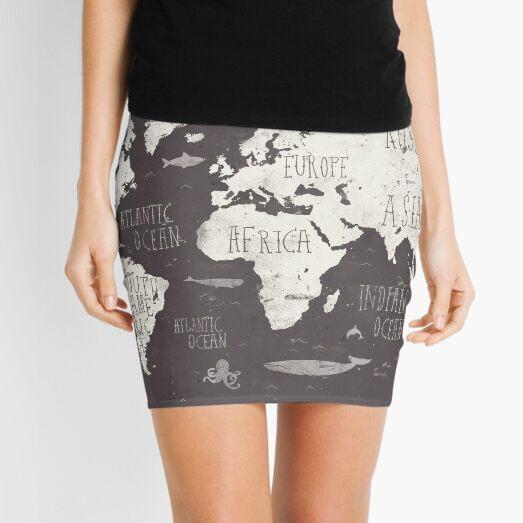 The World Map Mini Skirt