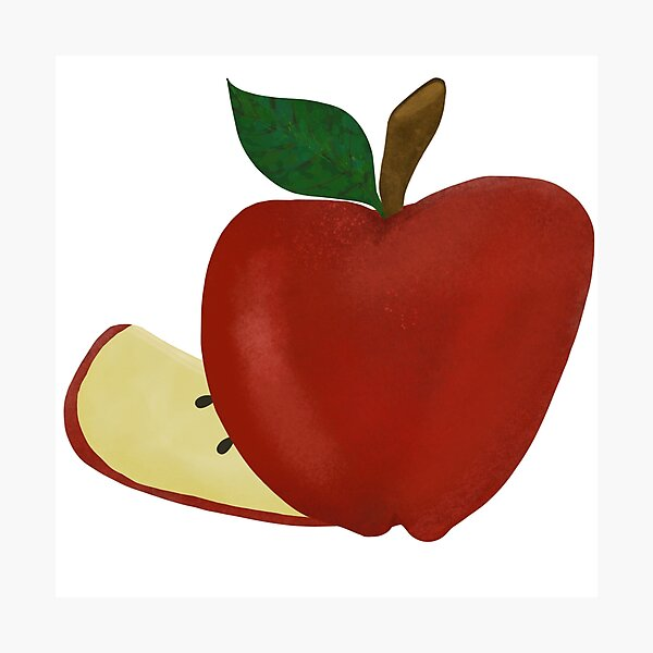Impression Photo Clipart Pomme Verte Texturee Par Tradigitalsis Redbubble