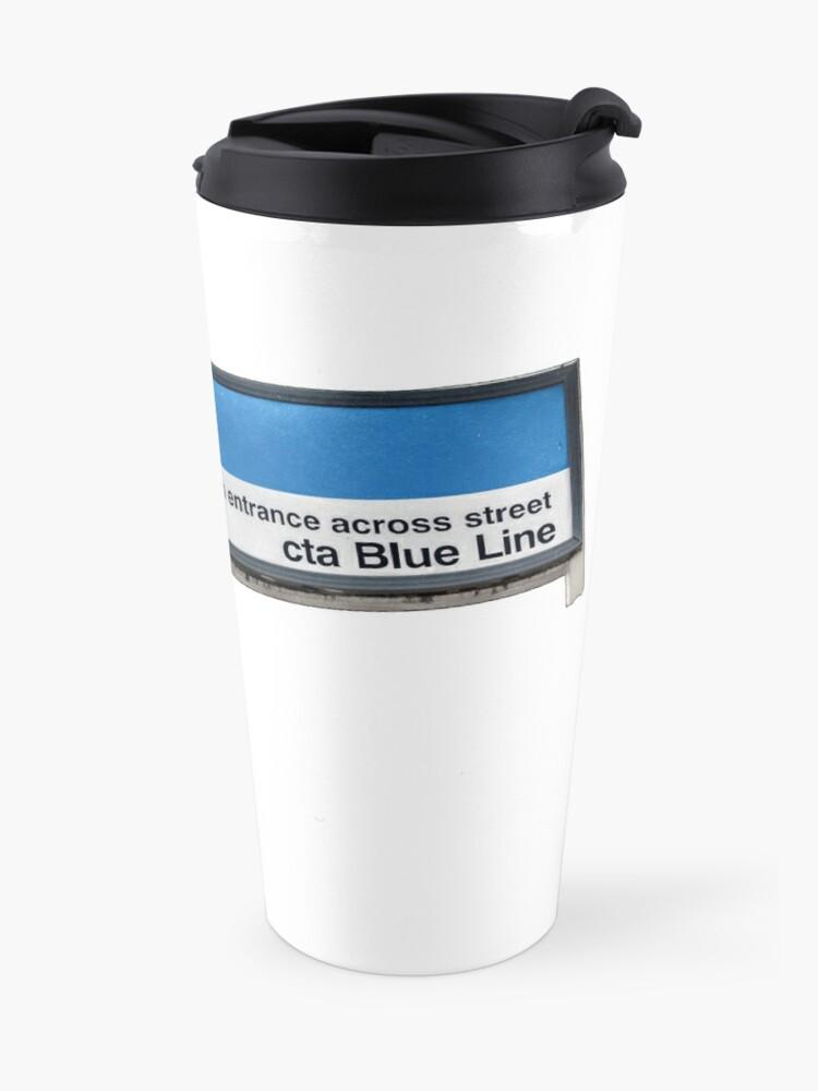 Alternate view of Western Ave CTA Blue Line Station Sign Travel Mug