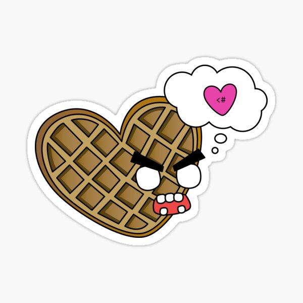 waffle hearts Sticker