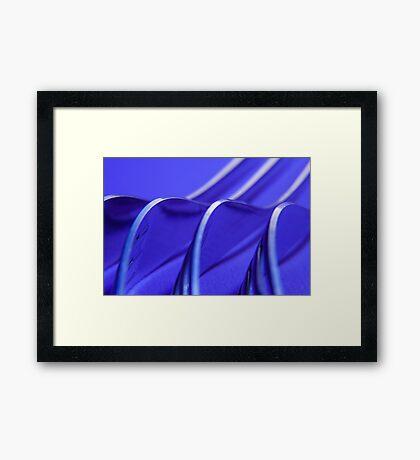 Kitchen Rhapsody: Fork Waves Framed Print