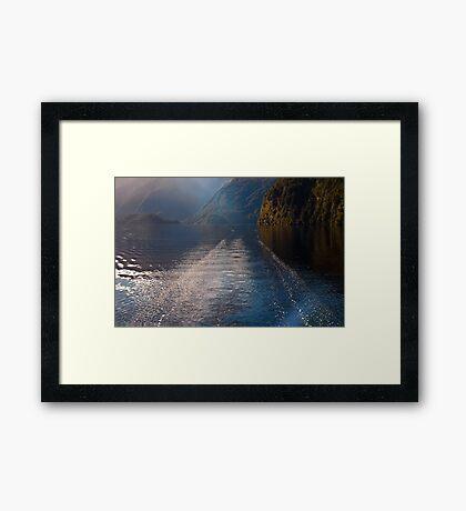 Mid Morning on Doubtful Sound Framed Print