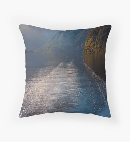 Mid Morning on Doubtful Sound Throw Pillow