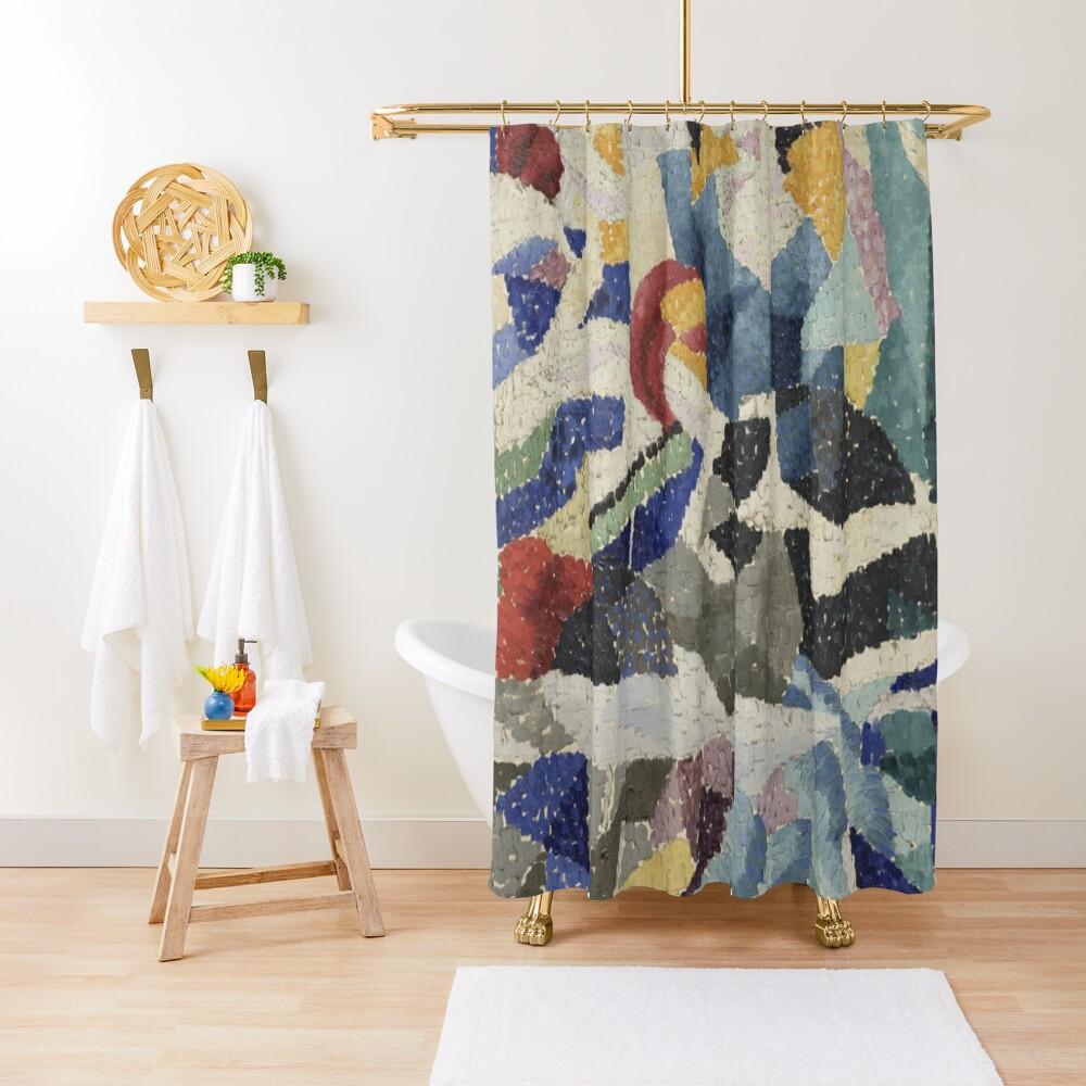 Artist, painter, craftsman, Gino Severini, futurism, futurist, art Shower Curtain