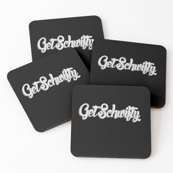 Get Schwifty Classic Paper Texture Coasters (Set of 4)