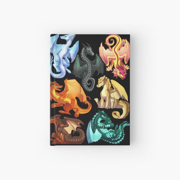Wings of Fire - Jade Winglet Dragonets: Moonwatcher, Winter, Qibli, Peril, Turtle, Umber, Kinkajou Hardcover Journal