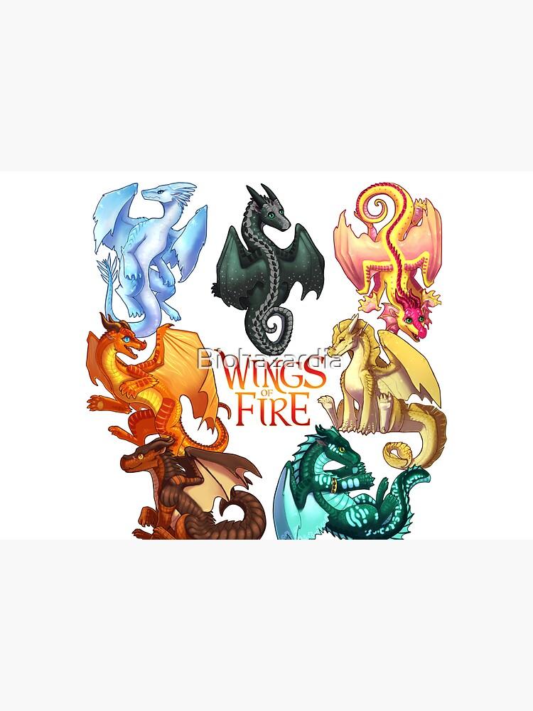 Wings of Fire - Jade Winglet Dragonets: Moonwatcher, Winter, Qibli, Peril, Turtle, Umber, Kinkajou by Biohazardia
