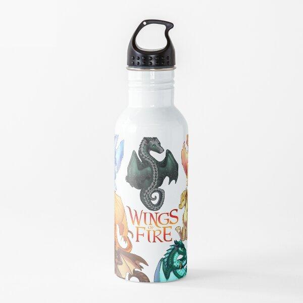 Wings of Fire - Jade Winglet Dragonets: Moonwatcher, Winter, Qibli, Peril, Turtle, Umber, Kinkajou Water Bottle