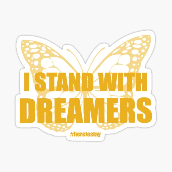 UndocuPride Wear. Clothing to show your support of undocumented persons and DREAMERS Sticker