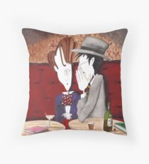 Joyce tells Yeats what he's doing wrong Throw Pillow
