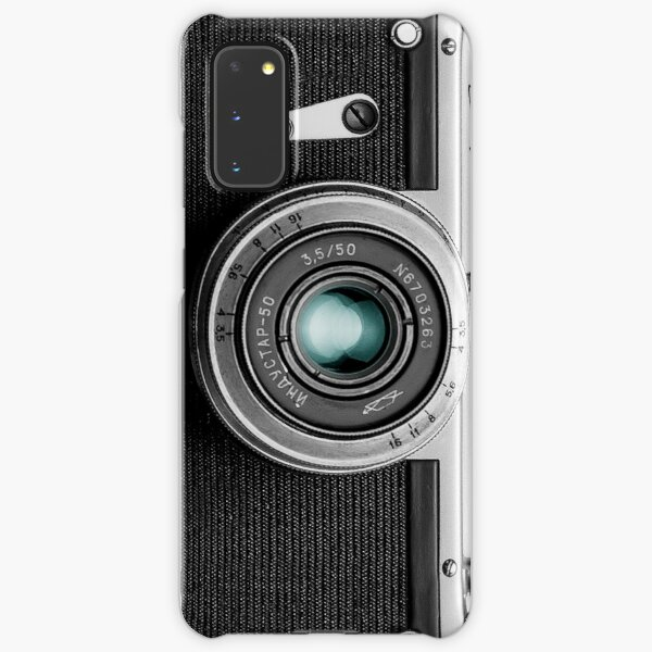 Camera with blue lens for funny photographer gift Samsung Galaxy Snap Case
