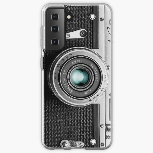 Camera with blue lens for funny photographer gift Samsung Galaxy Soft Case