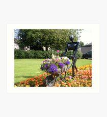 A garden in Strathaven, Scotland Art Print