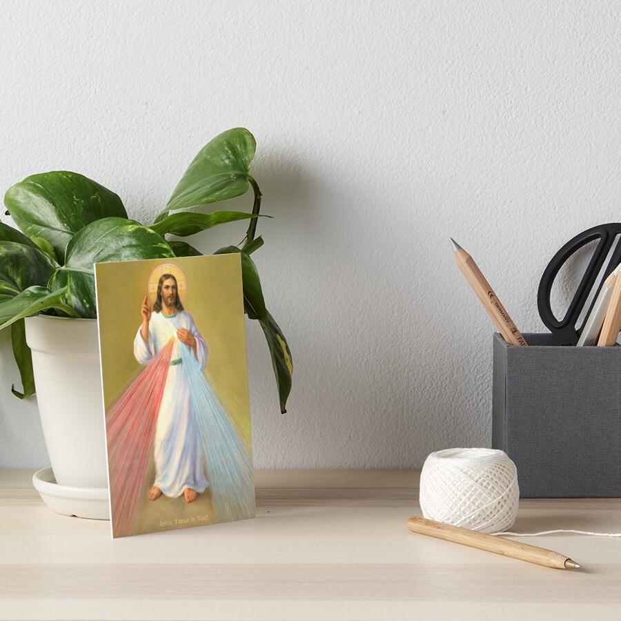 The Divine Mercy Of Jesus Art Board Print