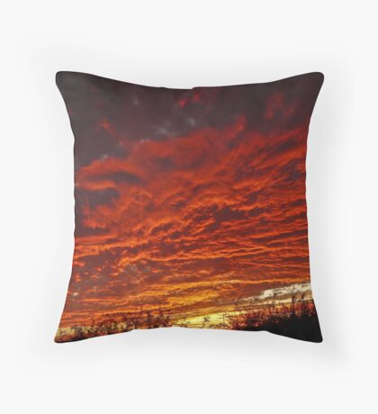 Patio Sunset Throw Pillow