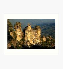 love legend-Three Sisters at Blue Mountain, Sydney, Australia Art Print