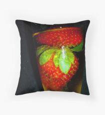 Strawberry Lasaration # 10 Throw Pillow