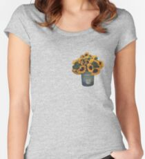 Sunflowers in Bucket Women's Fitted Scoop T-Shirt