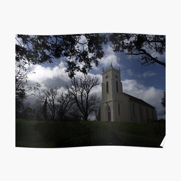 Church at Windemere - moody shot Poster