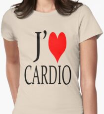 J'adore cardio Womens Fitted T-Shirt