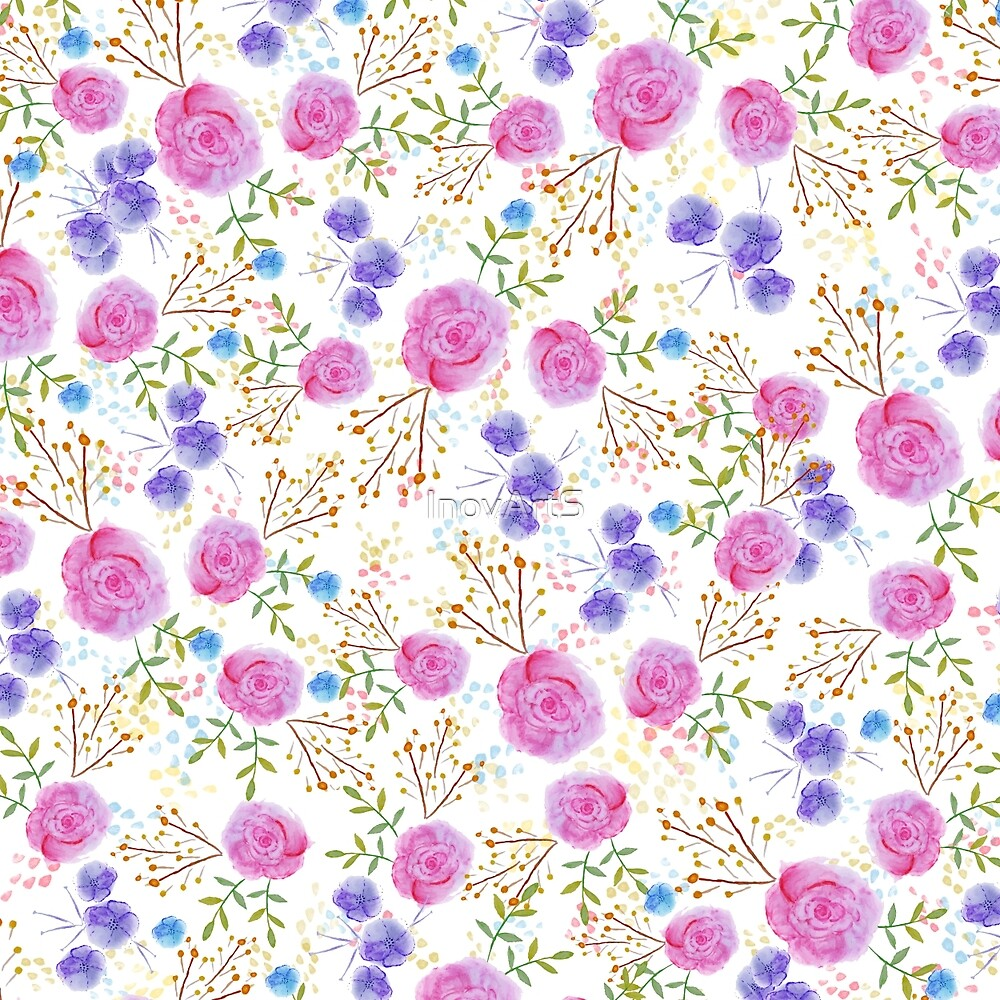 Pretty watercolor floral design by InovArtS