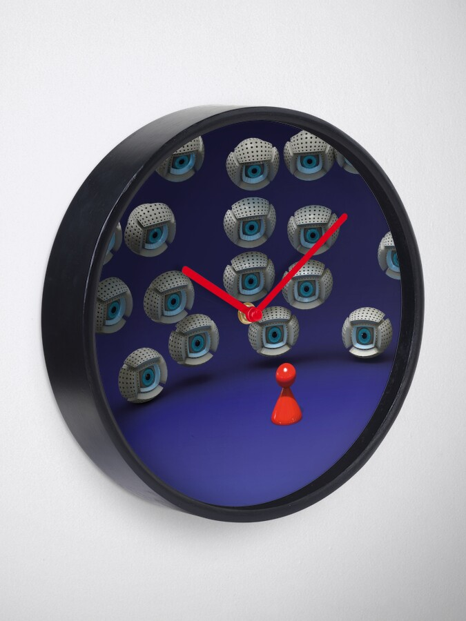 Alternate view of all eyes on me Clock