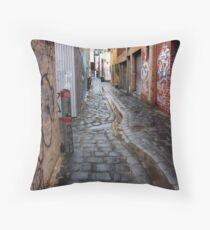wet laneway Melbourne Australia Throw Pillow