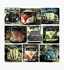 VW Vintage cars Photographic Print