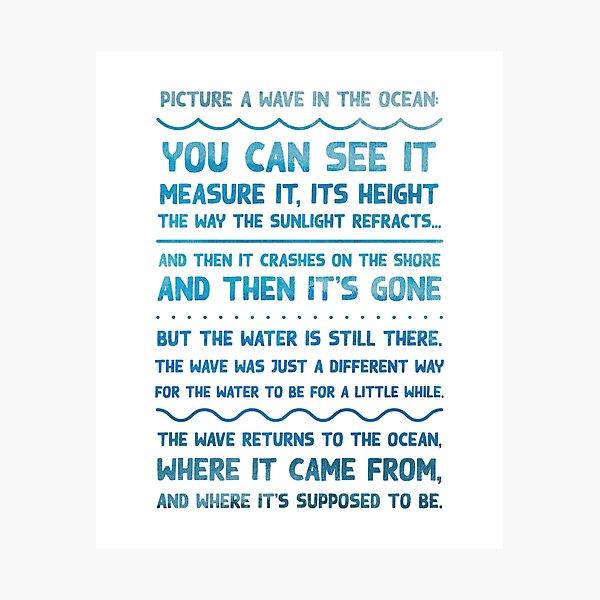 The Good Place - Imaginez une vague Impression photo