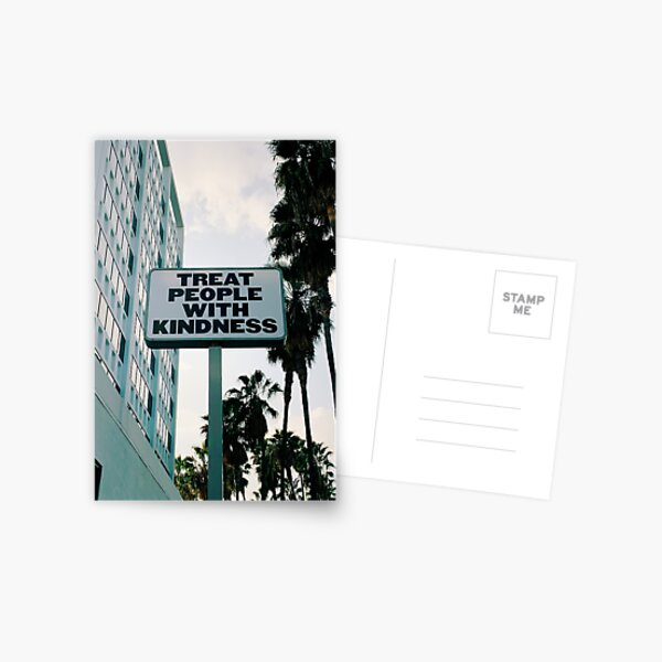 Treat People with Kindness Postcard