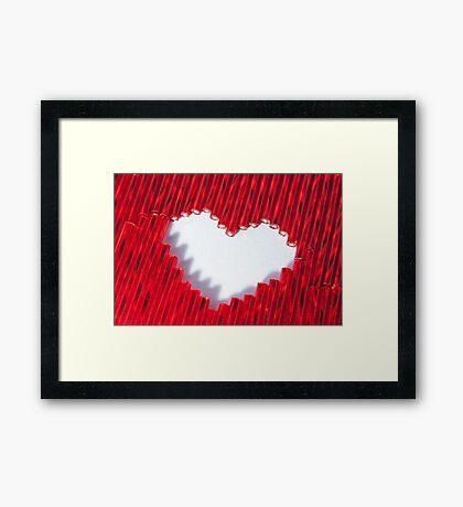 Love, beaded Framed Print