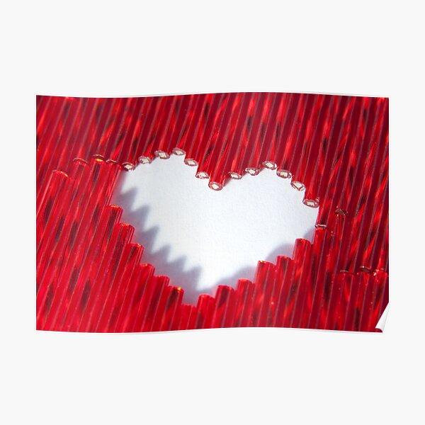 Love, beaded Poster