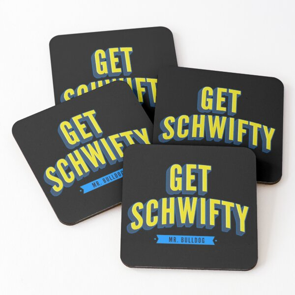 Get Schwifty Classic Comic Book Style Coasters (Set of 4)