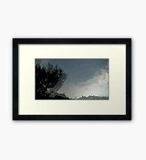 Hurricane Irene Doubletake  Framed Print