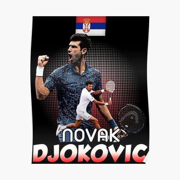 Novak Djokovic Wimbledon Champ 2014 Salute POSTER