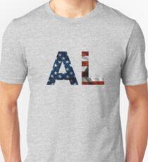 Alabama  American Flag Abbreviation  Unisex T-Shirt