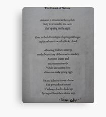 BACK OF THE LOVE NATURE COLLECTION CANVAS - HEART OF NATURE 19 POEM Canvas Print