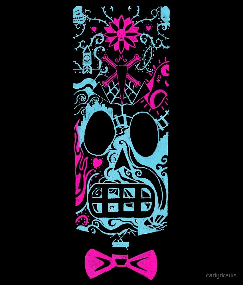 Calavera Miami by carlydraws