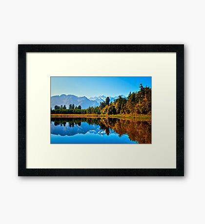 Mt. Cook from Lake Matheson Framed Print