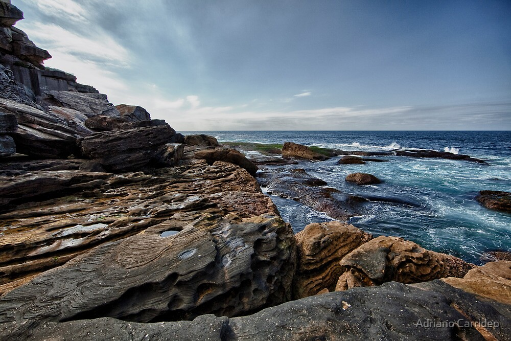Coastal - Bondi Rocks by Adriano Carrideo