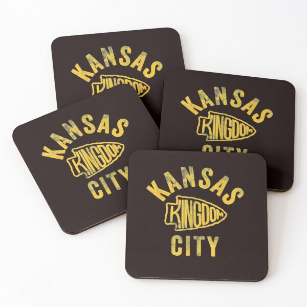 Kansas City Kingdom Football 2020 Kc Chiefs Red Arrowhead T shirt Coasters (Set of 4)