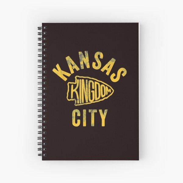 Kansas City Kingdom Football 2020 Kc Chiefs Red Arrowhead T shirt Spiral Notebook