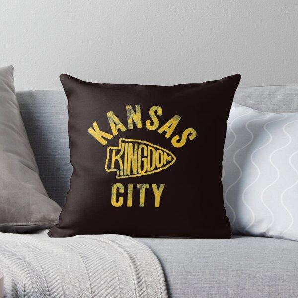 Kansas City Kingdom Football 2020 Kc Chiefs Red Arrowhead T shirt Throw Pillow