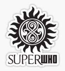 SUPERWHO LOGO RASSILON AND PROTECTION TATTOO Sticker