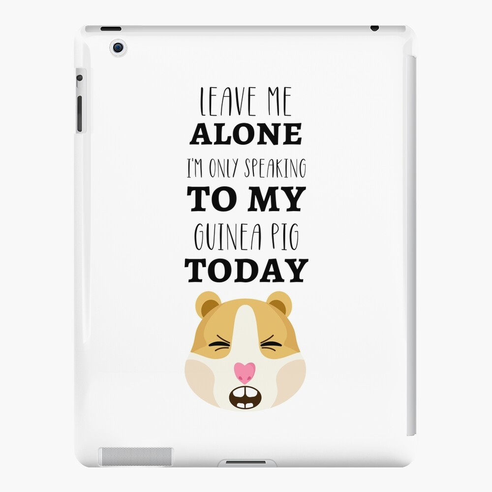 Leave Me Alone I/'m Only Talking To My Guinea Pig Today Crop Top Pet Lover Tee