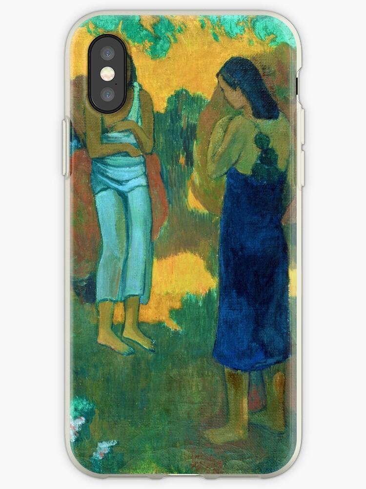 Paul Gauguin - Three Tahitian Women against a Yellow Background by irinatsy